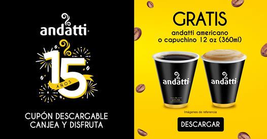 Cupón Café Andatti Gratis en Oxxo