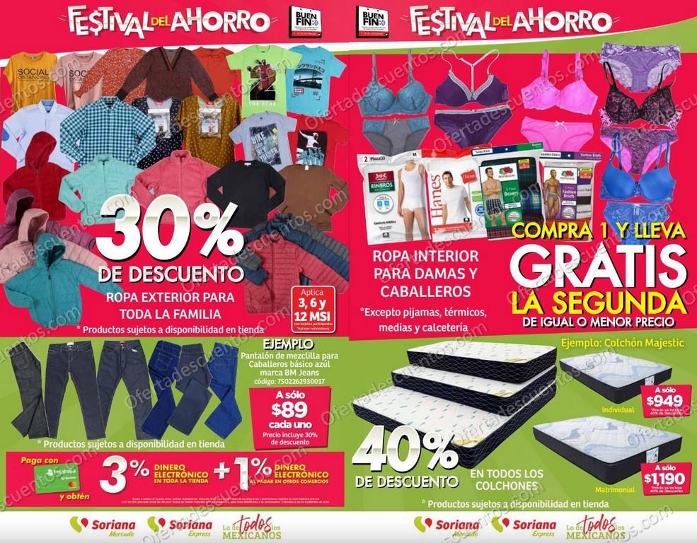 Folleto Ofertas Buen Fin 2020 Soriana Mercado del 12 al 17 de Noviembre