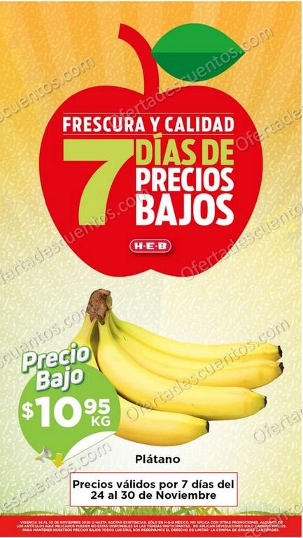 HEB: Ofertas en Frutas y Verduras del 24 al 30 de Noviembre 2020