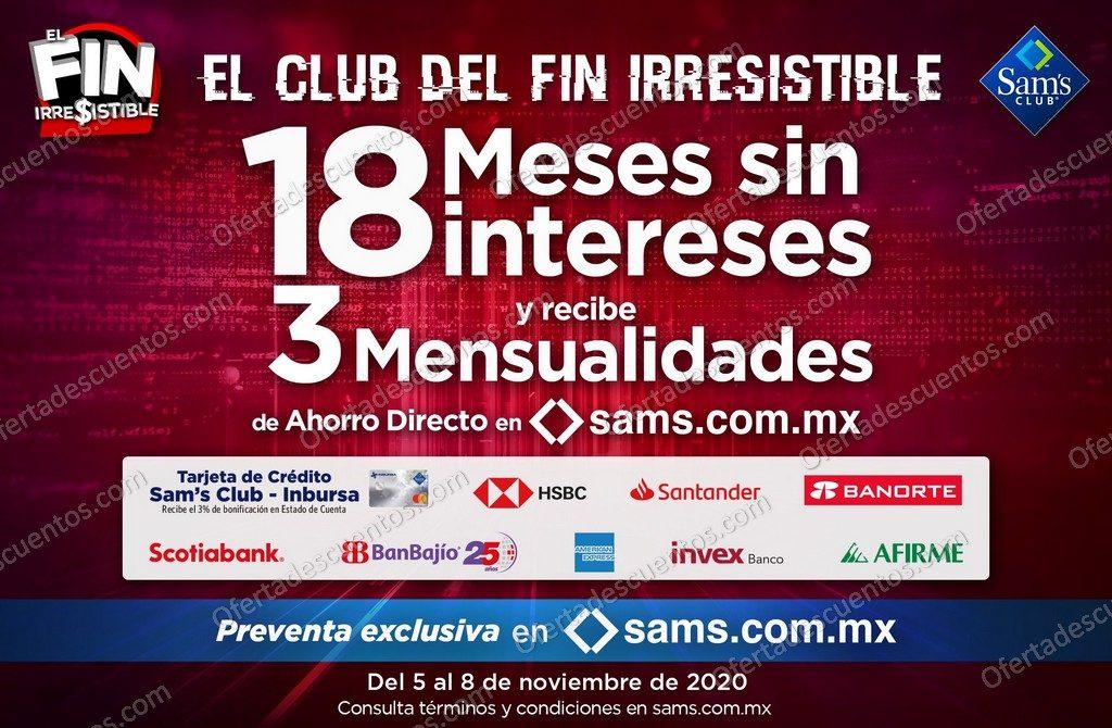 Promociones Bancarias Buen Fin Irresistible 2020 Sams Club