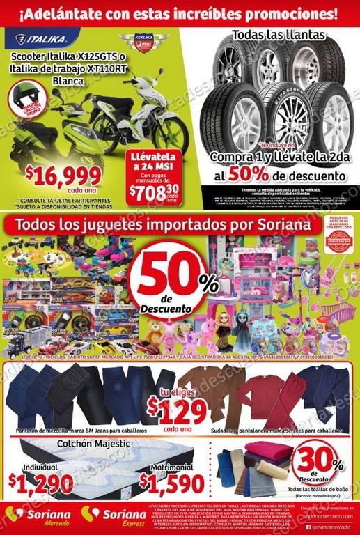 Soriana Mercado: Folleto Ofertas Pre Buen Fin del 6 al 8 de Noviembre 2020