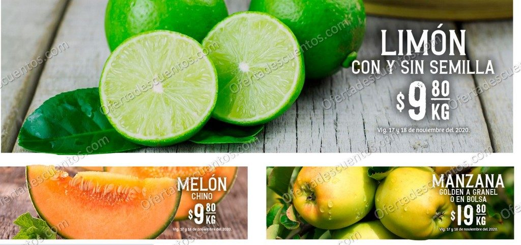 Soriana: Ofertas Frutas y Verduras 17 y 18 de Noviembre 2020