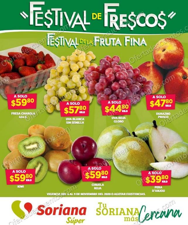 Soriana Super: Festival de Frescos en Fruta Fina del 6 al 9 de Noviembre 2020