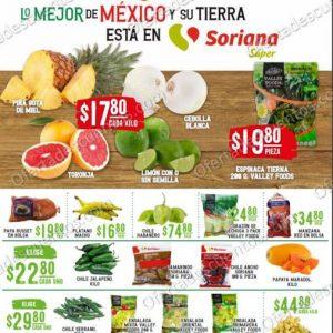 Soriana Super: Folleto de Ofertas en Frutas y Verduras 1 y 2 de Diciembre 2020