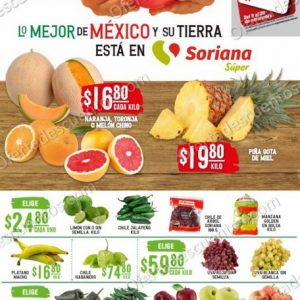 Soriana Super: Ofertas Frutas y Verduras 10 y 11 de Noviembre 2020