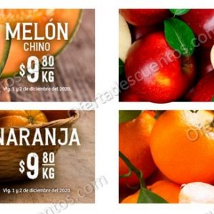 Soriana: Ofertas en Frutas y Verduras 1 y 2 de Diciembre 2020