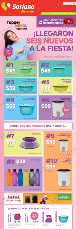 Tuppermanía Soriana Mercado: Nuevos Productos Tupperware desde $39 al 31 de Enero 2021