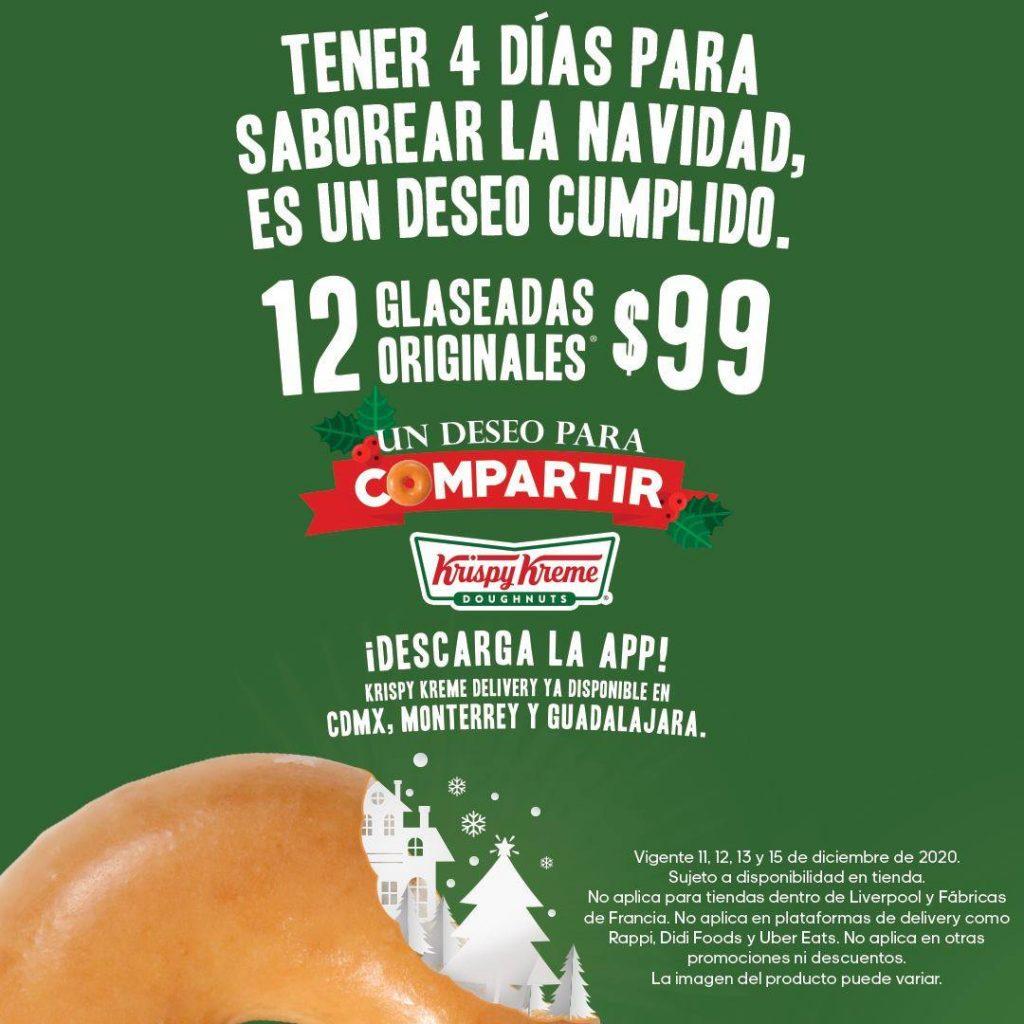 Saborea La Navidad en Krispy Kreme con Las 12 Glaseadas Que Te Ofrece a $99