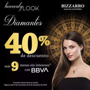 Bizzarro: Heavenly Look Hasta 40% en Diamantes y Relojería al 24 de Diciembre