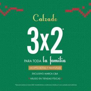 C&A: 3×2 En Calzado Para Toda La Familia