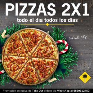 California Pizza Kitchen: Oferta de 2×1 en Pizzas