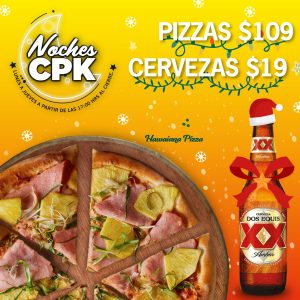 California Pizza Kitchen: Noches CPK De Lunes a Jueves