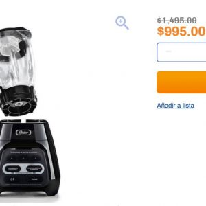 Chedraui: Licuadora Oster Reversible 3 Velocidades 1.5L $995