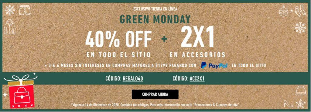 Green Monday Forever 21: 40% de Descuento y 2×1 en Accesorios