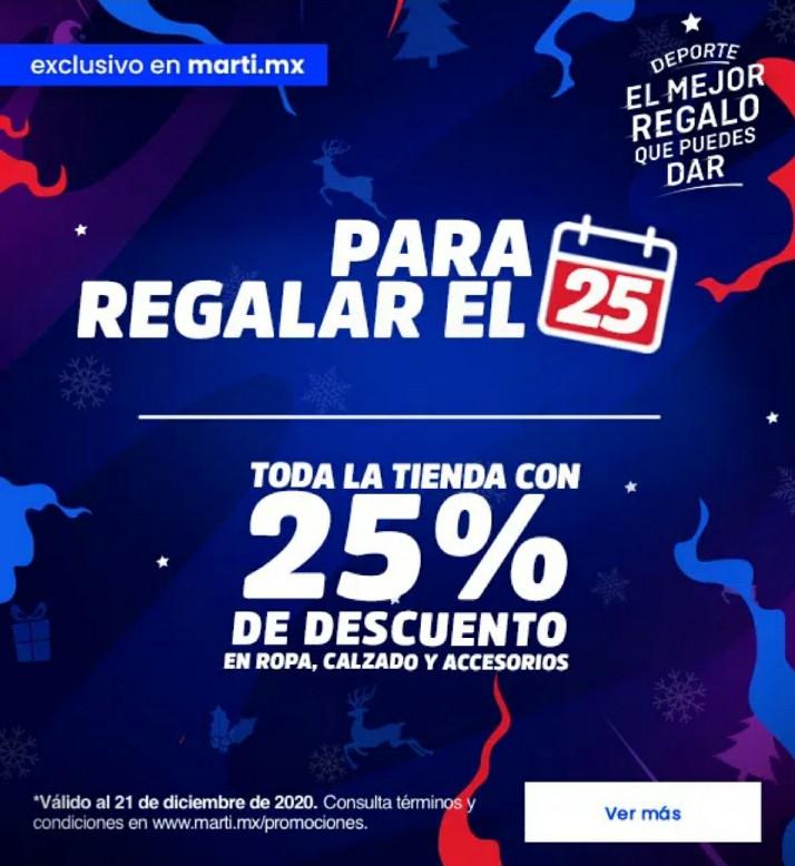 Martí: 25% de Descuento en Toda la Tienda al 21 de Diciembre 2020