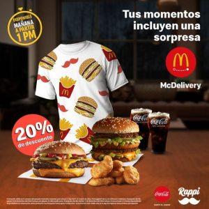 McDonald's y Rappi: 20% de Descuento en Paquete Momento Sorpresa 10 y 11 de diciembre 2020