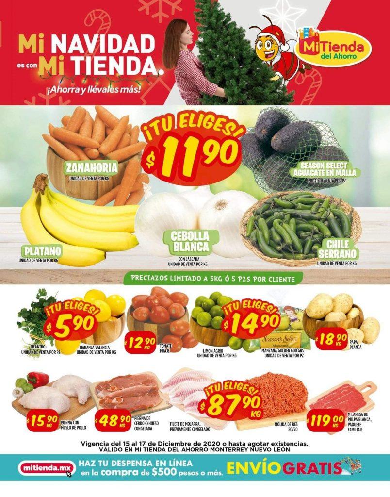 Mi Tienda del Ahorro: Ofertas en Frutas y Verduras del 15 al 17 de Diciembre 2020