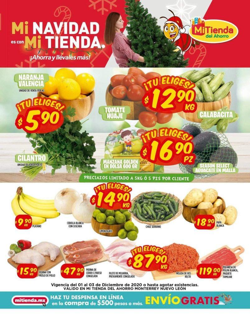Mi Tienda del Ahorro: Ofertas en Frutas y Verduras del 1 al 3 de Diciembre 2020