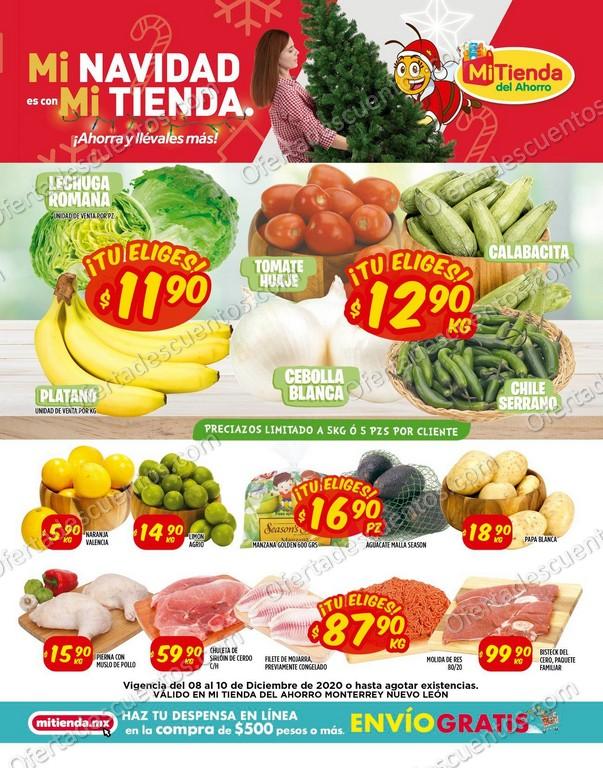 Mi Tienda del Ahorro: Ofertas en Frutas y Verduras del 8 al 10 de Diciembre 2020