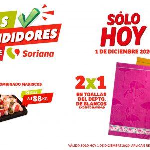 Ofertas Días Rendidores Soriana 1 de Diciembre 2020: 2×1 en Sartenes y más