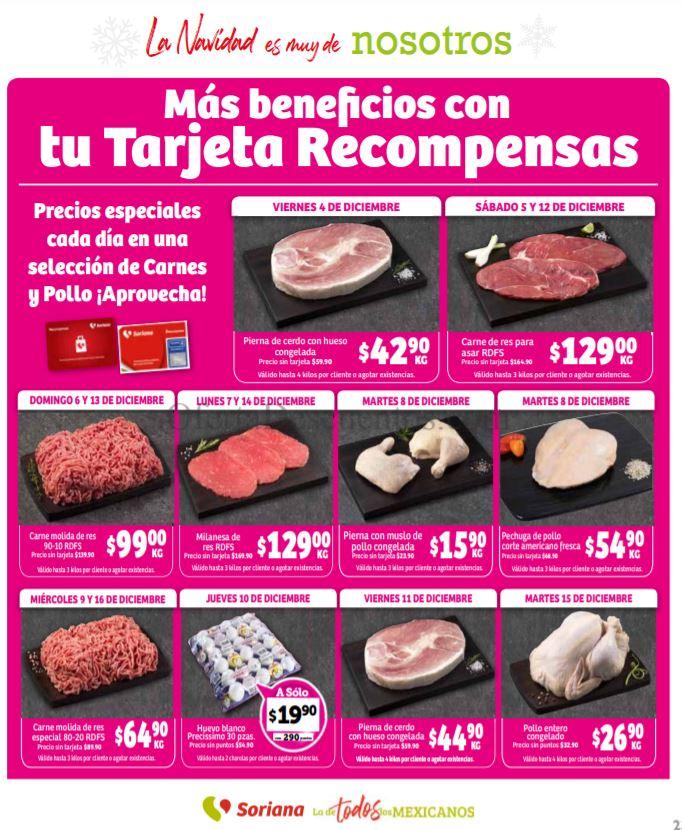 Soriana: Promociones Tarjeta Recompensas del 4 al 16 de Diciembre 2020