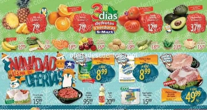 S-Mart: Ofertas en Frutas y Verduras del 1 al 3 de diciembre 2020