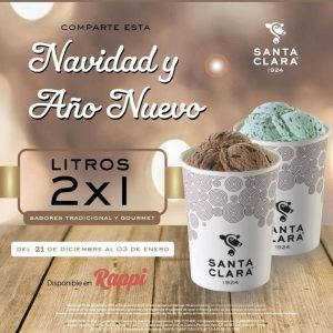 Santa Clara: Ofertas del 2×1 en Litros de Helado