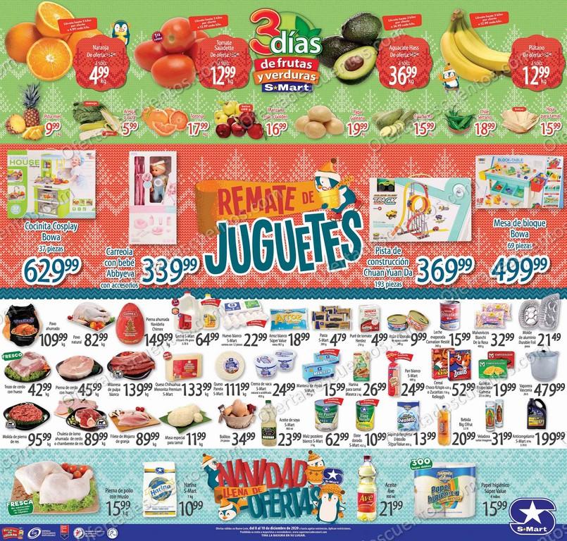 S-Mart: Ofertas en Frutas y Verduras del 8 al 10 de Diciembre 2020