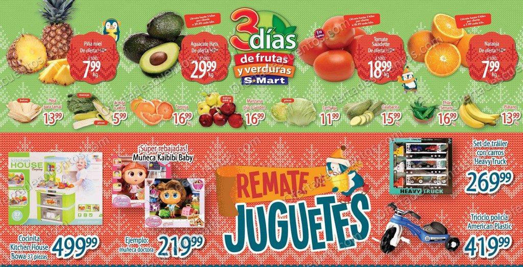 S-Mart: Ofertas en Frutas y Verduras del 15 al 17 de Diciembre 2020