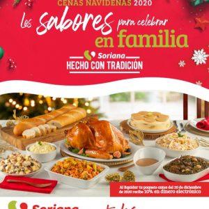 Soriana: Folleto Cenas Navideñas Diciembre 2020 Sabores para Celebrar en Familia