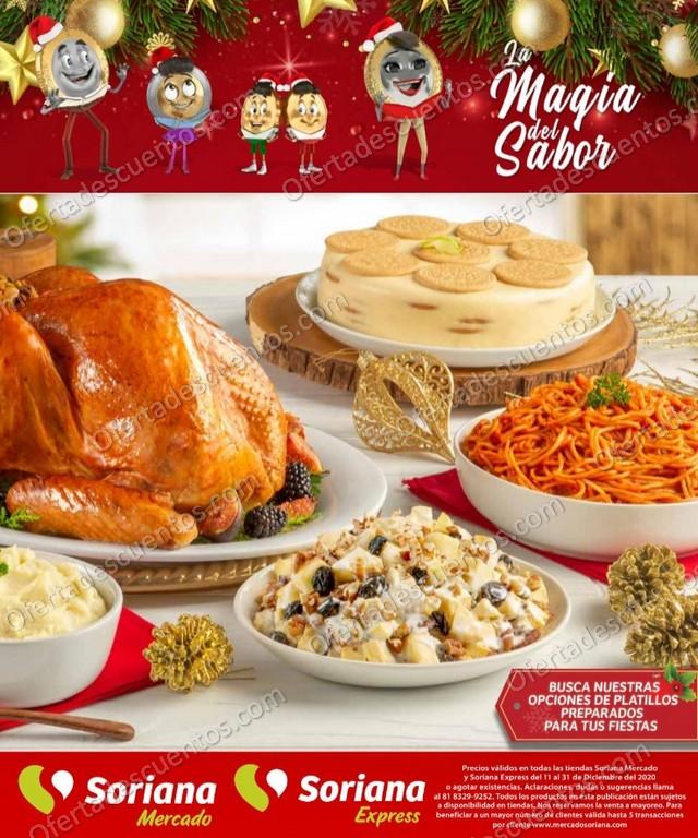 Soriana Mercado: Folleto de Ofertas Cenas Navideñas del 11 al 31 de Diciembre 2020