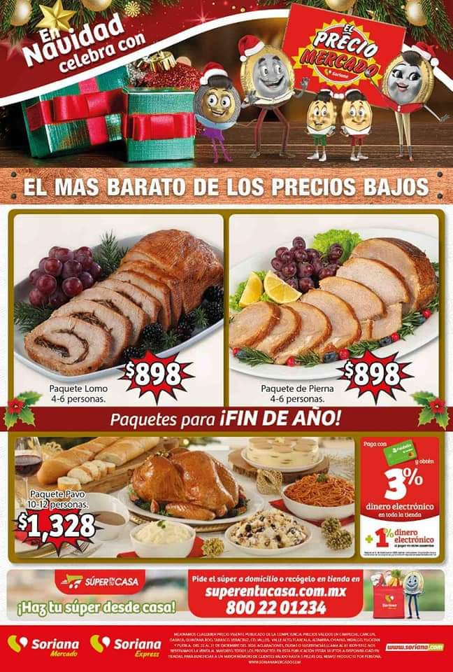 Soriana Mercado: Ofertas en Paquetes de Fin de Año y Artículos Para el Hogar, Jugetes y Más Hasta el 31 de Diciembre 2020