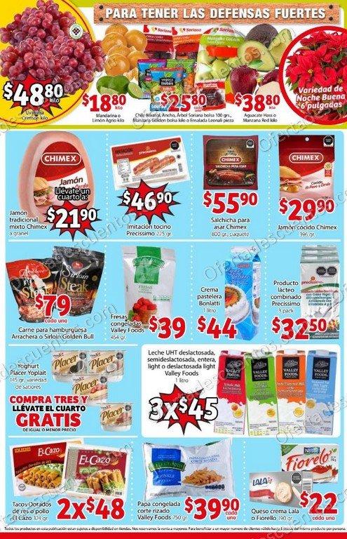 Soriana Mercado: Promociones de Fin de Semana del 18 al 21 de Diciembre 2020