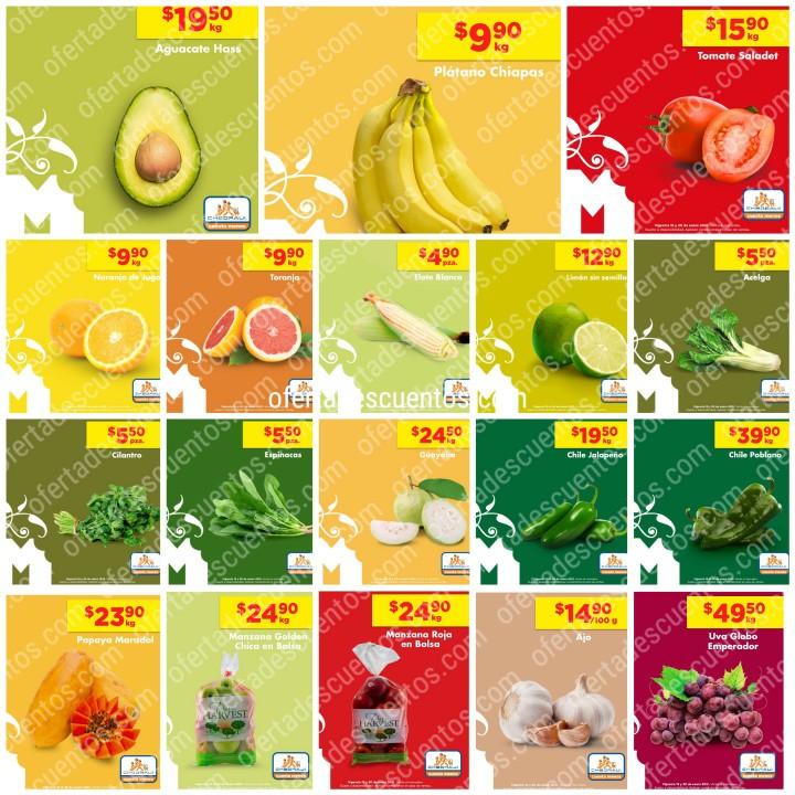 Chedraui: Ofertas en Frutas y Verduras MartiMiércoles 19 y 20 de Enero 2021
