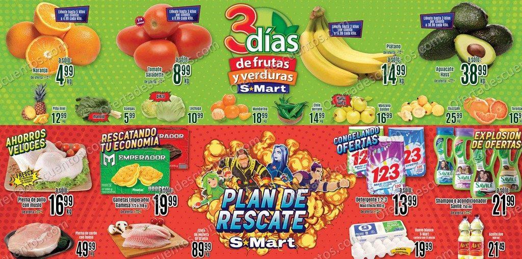 S-Mart: 3 Días de Ofertas en Frutas y Verduras del 26 al 28 de Enero 2021