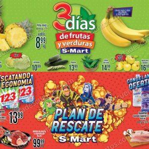 S-Mart: Ofertas en Frutas y Verduras del 12 al 14 de Enero 2021
