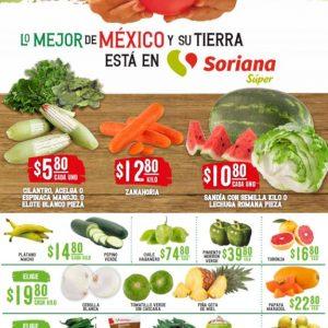 Soriana Super: Ofertas Frutas y Verduras Martes y Miércoles del Campo 12 y 13 de Enero 2021