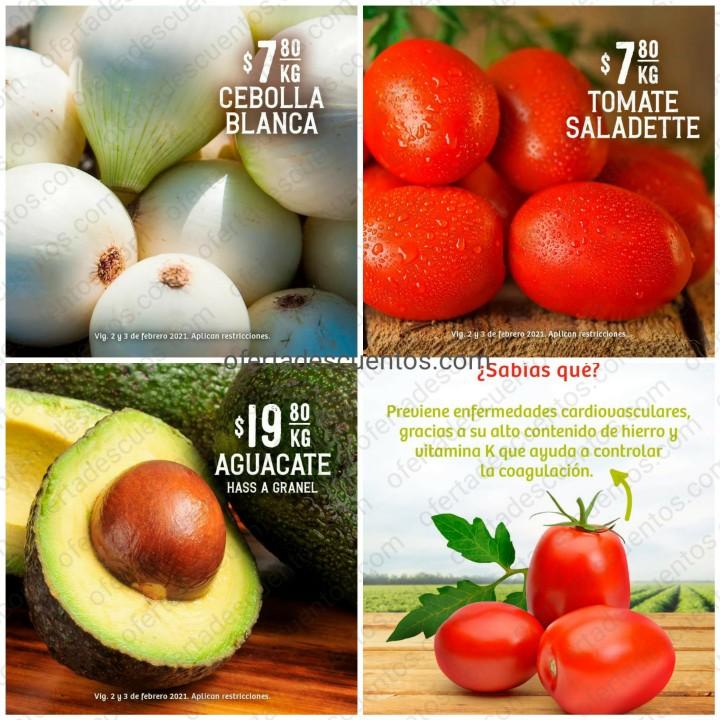 Soriana: Ofertas en Frutas y Verduras 2 y 3 de Febrero 2021