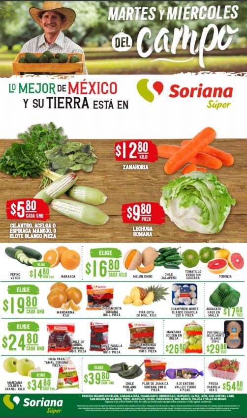 Soriana Super: Ofertas en Frutas y Verduras Martes y Miércoles del Campo 2 y 3 de Febrero 2021