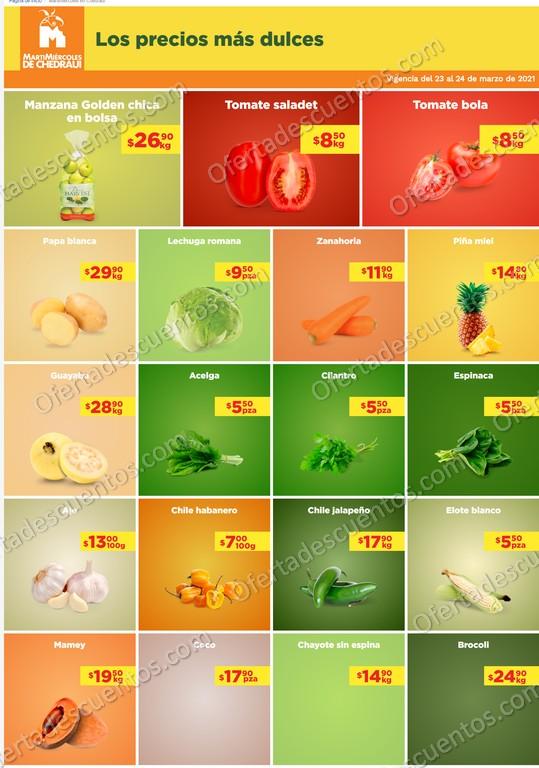 Chedraui: Ofertas en Frutas y Verduras MartiMiércoles 23 y 24 de Marzo 2021