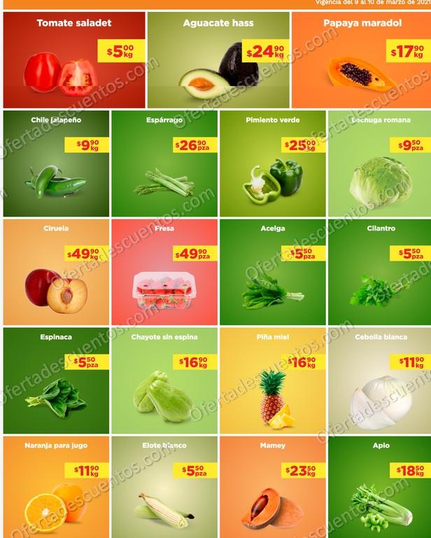 Chedraui: Ofertas en Frutas y Verduras MartiMiércoles 9 y 10 de Marzo 2021