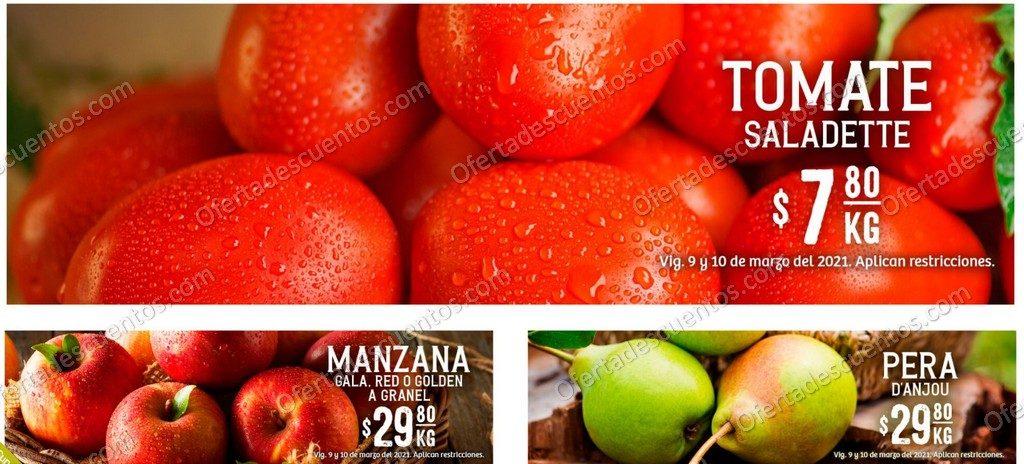 Soriana: Ofertas en Frutas y Verduras 9 y 10 de Marzo 2021