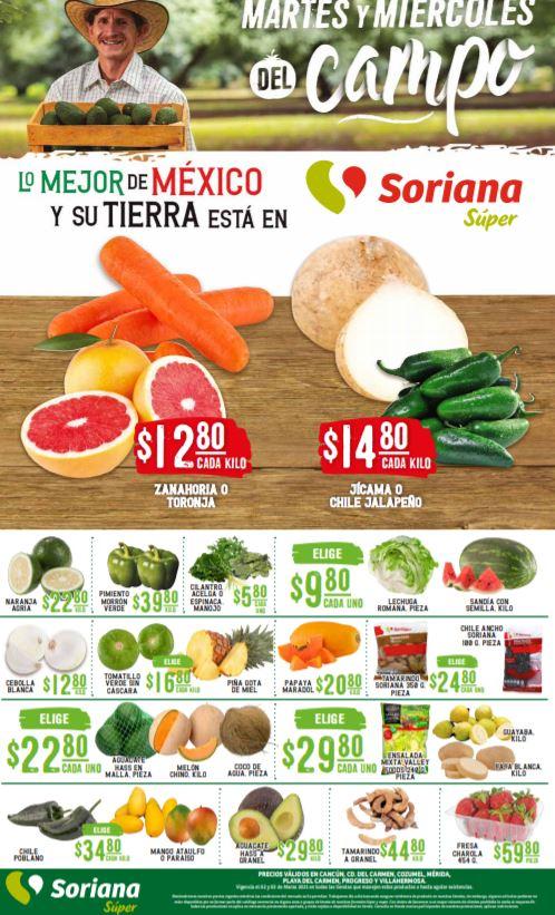 Soriana Super: Ofertas en Frutas y Verduras 2 y 3 de Marzo 2021