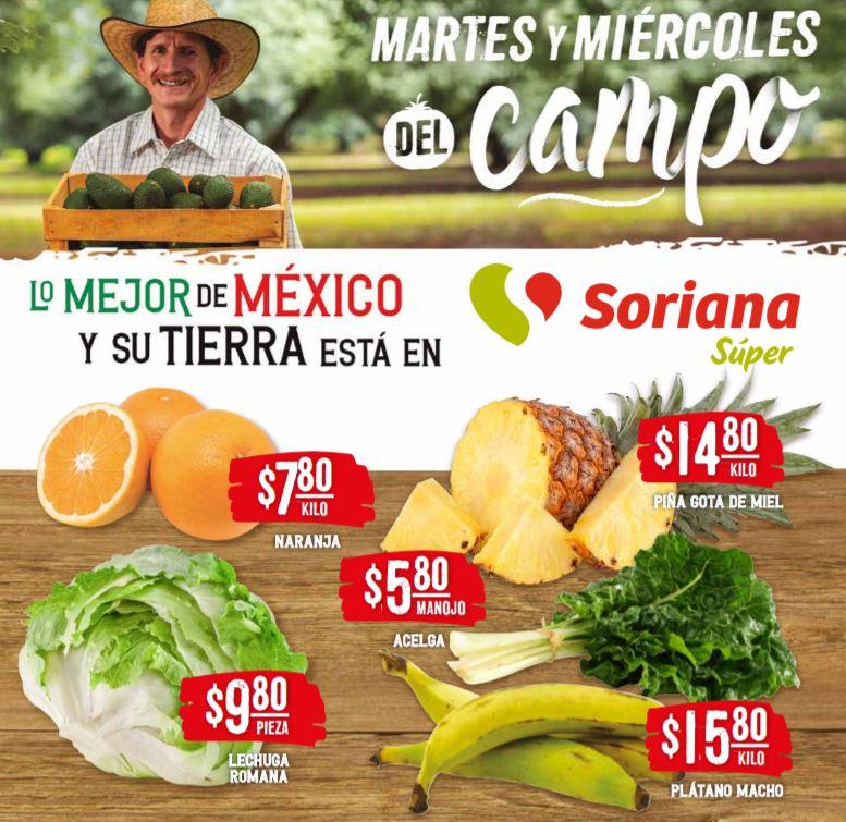 Soriana Super: Ofertas en Frutas y Verduras Martes y Miércoles del Campo 16 y 17 de Marzo 2021