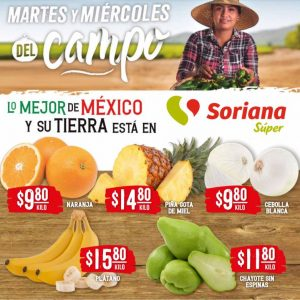 Soriana Super: Ofertas en Frutas y Verduras 20 y 21 de Abril 2021