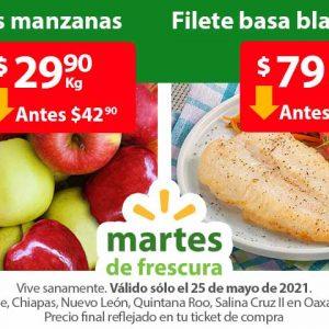 Ofertas en Frutas y Verduras Martes de Frescura Walmart 25 de Mayo 2021