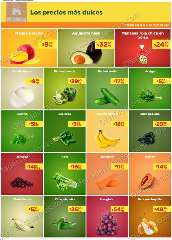Ofertas en Frutas y Verduras Chedraui 18 y 19 de Mayo 2021