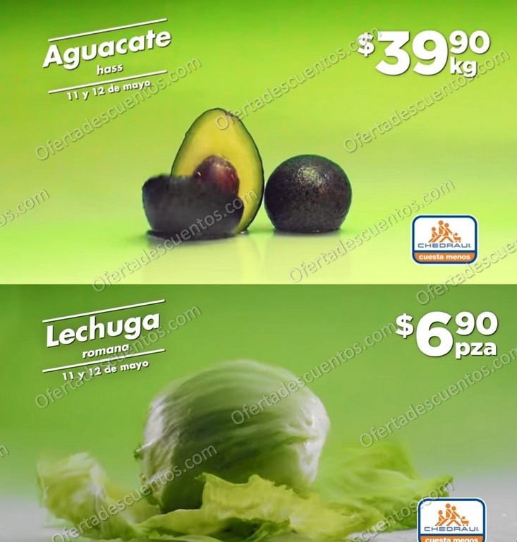 Ofertas en Frutas y Verduras Chedraui 11 y 12 de Mayo 2021