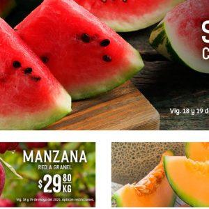 Ofertas en Frutas y Verduras Soriana 18 y 19 de Mayo 2021