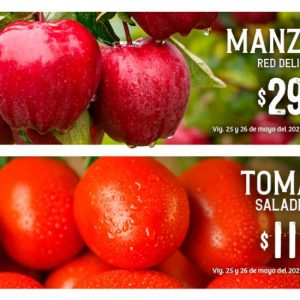 Soriana: Ofertas en Frutas y Verduras 25 y 26 de Mayo 2021